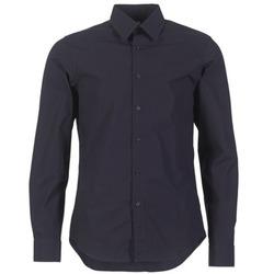 tekstylia Męskie Koszule z długim rękawem G-Star Raw CORE SHIRT Marine