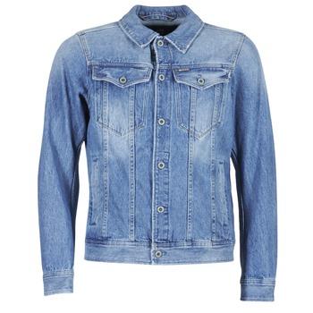 tekstylia Męskie Kurtki jeansowe G-Star Raw 3301 DECONSTRUCTED 3D SLIM Niebieski