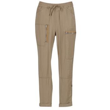 tekstylia Damskie Spodnie z lejącej tkaniny / Alladynki G-Star Raw POWEL UTILITY 3D SPORT Beżowy