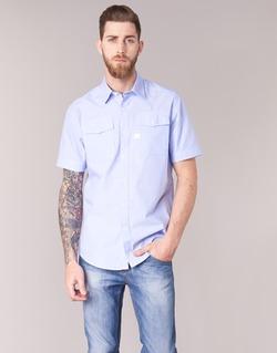 tekstylia Męskie Koszule z krótkim rękawem G-Star Raw LANDOH Niebieski
