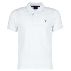 tekstylia Męskie Koszulki polo z krótkim rękawem Gant CONTRAST COLLAR PIQUE Biały