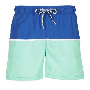 tekstylia Męskie Kostiumy / Szorty kąpielowe Gant CUT & SEWN SWIM SHORT Zielony / MARINE