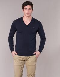 tekstylia Męskie Swetry Gant WEIGHT COTTON V NECK Marine