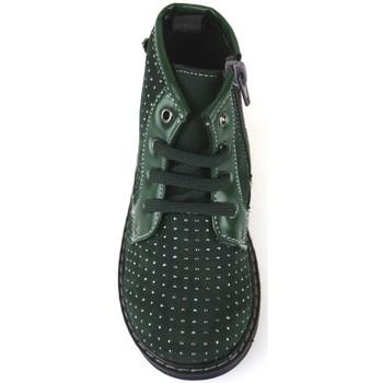 Buty Dziewczynka Botki Didiblu polacchini verde camoscio AJ952 Verde