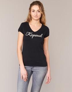 tekstylia Damskie T-shirty z krótkim rękawem Kaporal NIAM Czarny