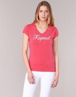 tekstylia Damskie T-shirty z krótkim rękawem Kaporal NIAM Różowy