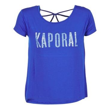 tekstylia Damskie T-shirty z krótkim rękawem Kaporal NIZA Niebieski