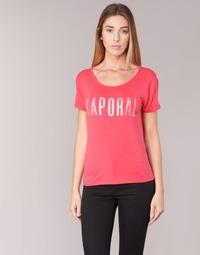 tekstylia Damskie T-shirty z krótkim rękawem Kaporal NIZA Różowy