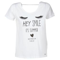 tekstylia Damskie T-shirty z krótkim rękawem Kaporal ASMA Biały