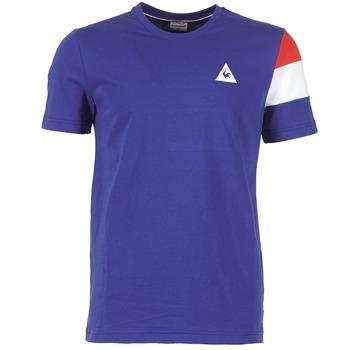tekstylia Męskie T-shirty z krótkim rękawem Le Coq Sportif BLUREA Niebieski