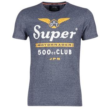tekstylia Męskie T-shirty z krótkim rękawem Superdry 500 CLUB MOTORRADER Szary