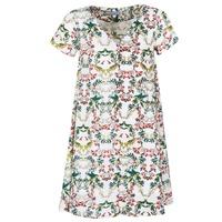 tekstylia Damskie Sukienki krótkie Compania Fantastica EPINETA Biały / Zielony / Różowy