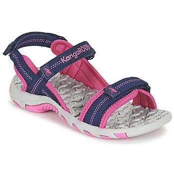 Buty Dziewczynka Sandały sportowe Kangaroos MUSER Marine / Różowy