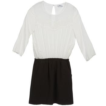 tekstylia Damskie Sukienki krótkie Suncoo CELESTINE Czarny / Biały