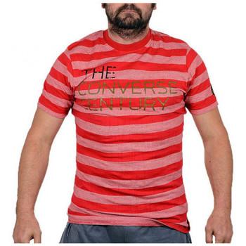 tekstylia Męskie T-shirty z krótkim rękawem Converse  Czerwony
