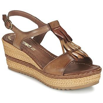 Buty Damskie Sandały Samoa DREDU Brązowy