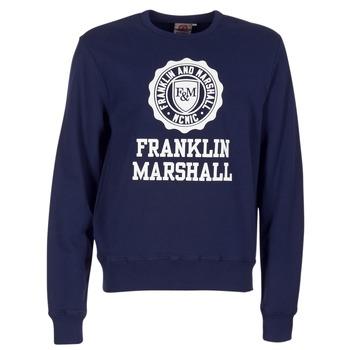tekstylia Męskie Bluzy Franklin & Marshall NESS OFRA MARINE