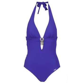 tekstylia Damskie kostium kąpielowy jednoczęściowy Banana Moon SPRING Niebieski