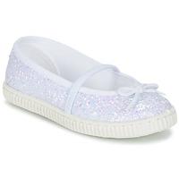 Buty Dziewczynka Baleriny Chipie SALSABA Glitter / Biały
