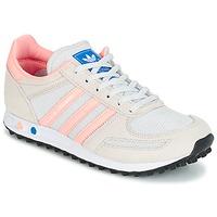 Buty Dziecko Trampki niskie adidas Originals LA TRAINER J Biały / Różowy