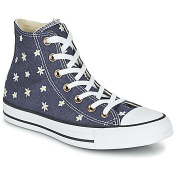 Buty Damskie Trampki wysokie Converse CHUCK TAYLOR ALL STAR DENIM FLORAL HI MARINE / żółty / Biały
