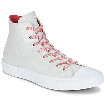 Buty Trampki wysokie Converse CHUCK TAYLOR ALL STAR II BASKETWEAVE FUSE HI ECRU / Biały / Czerwony
