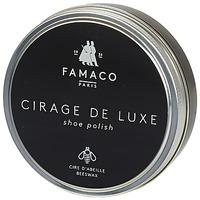 Dodatki Pasty do butów Famaco Boite de cirage de luxe marron foncé 100 ml Brązowy / Fonce