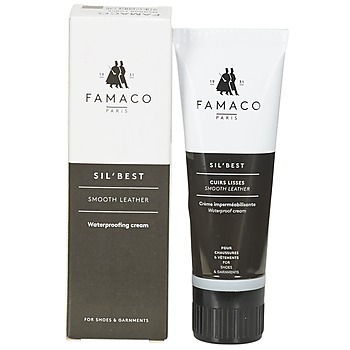 Dodatki Pasty do butów Famaco Tube applicateur cirage marron foncé 75 ml Brązowy / Fonce