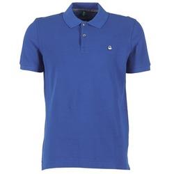 tekstylia Męskie Koszulki polo z krótkim rękawem Benetton FOBIKA Niebieski