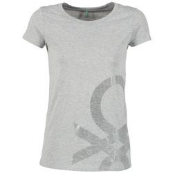 tekstylia Damskie T-shirty z krótkim rękawem Benetton MADOUL Szary