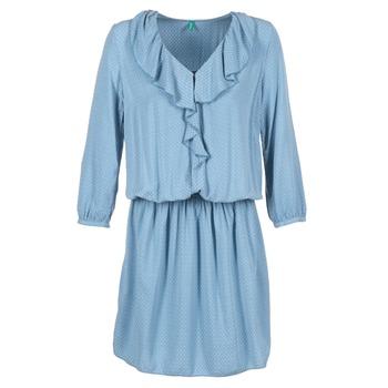 tekstylia Damskie Sukienki krótkie Benetton AFIDOUL Niebieski