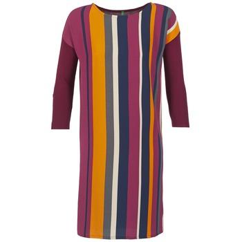 tekstylia Damskie Sukienki krótkie Benetton VAGODA Bordeaux / Wielokolorowe