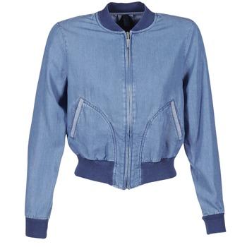tekstylia Damskie Kurtki jeansowe Benetton FERMANO Niebieski / Medium
