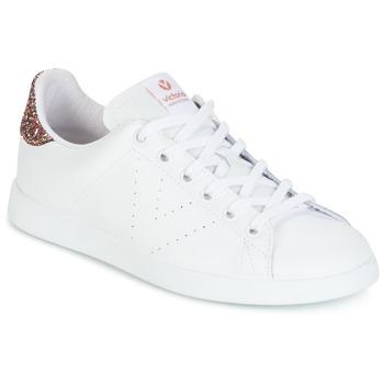 Buty Damskie Trampki niskie Victoria DEPORTIVO BASKET PIEL Biały / Różowy / Glitter