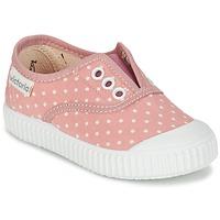 Buty Dziewczynka Trampki niskie Victoria INGLESA LUNARES ELASTICO Różowy / Biały