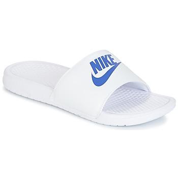 Buty Męskie Klapki Nike BENASSI JUST DO IT Biały / Niebieski