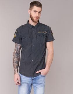 tekstylia Męskie Koszule z krótkim rękawem Deeluxe BURTY Szary