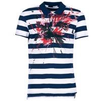 tekstylia Męskie Koszulki polo z krótkim rękawem Desigual RELIRA Biały / MARINE / Czerwony