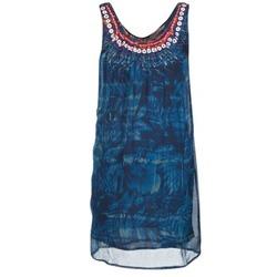 tekstylia Damskie Sukienki krótkie Desigual LIORISE Niebieski