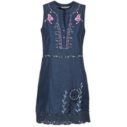 tekstylia Damskie Sukienki krótkie Desigual LIRASE Niebieski