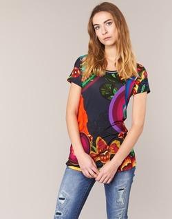 tekstylia Damskie T-shirty z krótkim rękawem Desigual GRIZILLO Wielokolorowe