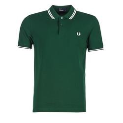 tekstylia Męskie Koszulki polo z krótkim rękawem Fred Perry TWIN TIPPED FRED PERRY SHIRT Zielony