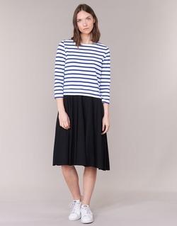 tekstylia Damskie Sukienki krótkie Petit Bateau FINALLY Biały / Niebieski