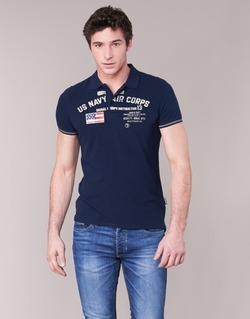 tekstylia Męskie Koszulki polo z krótkim rękawem Schott ALEC MARINE