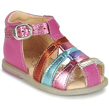 Buty Dziewczynka Baleriny Babybotte TIKALOU Różowy / Wielokolorowe