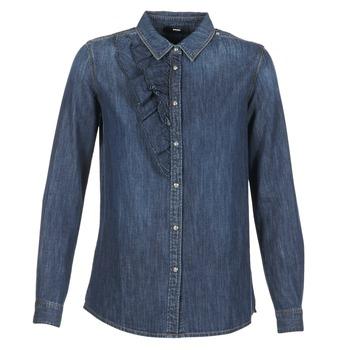 tekstylia Damskie Koszule Diesel DE KELLY Niebieski