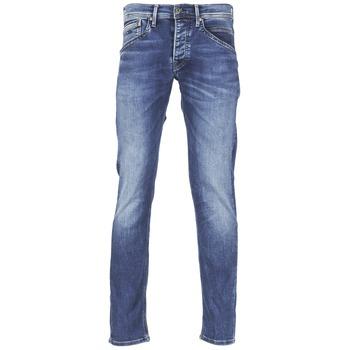 tekstylia Męskie Jeansy straight leg Pepe jeans TRACK Niebieski