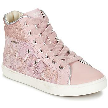 Buty Dziewczynka Trampki wysokie Geox J KIWI G. H Różowy