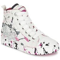 Buty Dziewczynka Trampki wysokie Geox J CIAK G. C Biały / Różowy