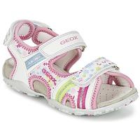 Buty Dziewczynka Sandały sportowe Geox J S.ROXANNE A Biały / Różowy